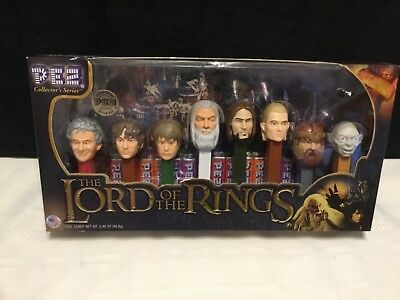The Lord of the Rings set of 8 collector Pez dispensers NIB  (R17)