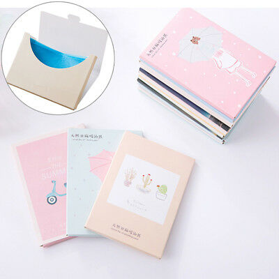 papers makeup cleansing oil absorbing face paper korea cute cartoon absorb  *tr