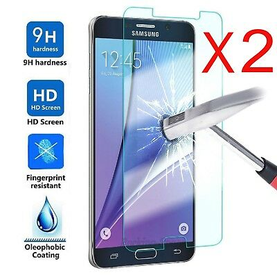 2X For Samsung Galaxy J3 J4 J5 J6 J7 J8 A7 A8 A9 Tempered Glass Screen Protector