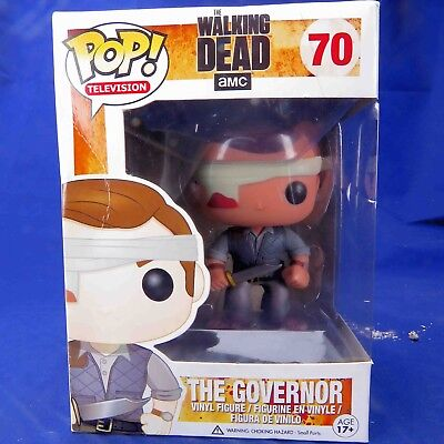 Funko Pop Television The Walking Dead #70 The Governor Free Pop! Protector Rare