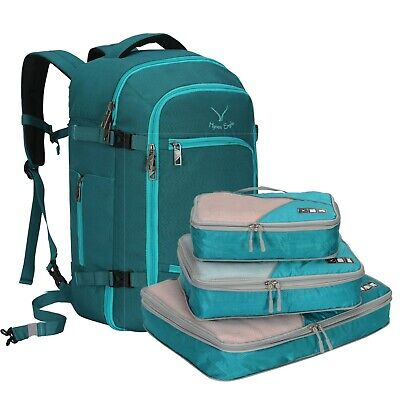 Hynes Eagle Travel 40L Cabin Approved Duffle Carry on Backpack S/3 Packing Cubes