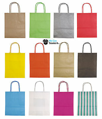 Luxury Party Bags - Kraft Paper Gift Bag - Medium A4 Twisted Handles -Recyclable