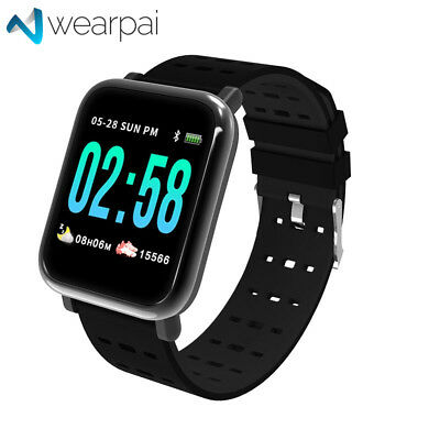 WearPai A6 Bluetooth Smart Bracelet tensiomètre Fitness Tracker Counter Montre