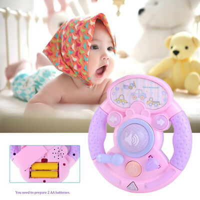 Baby Music Sound Toys Simulation Car Steering Wheel Early Education Learning Toy