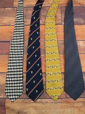 JOB LOT assortment of 55 mens vintage ties ideal for resale, costumes and crafts