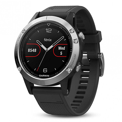Garmin Multisport Gps Cardio Watch Running Outdoor Fenix 5 Nero/Silver 1IT