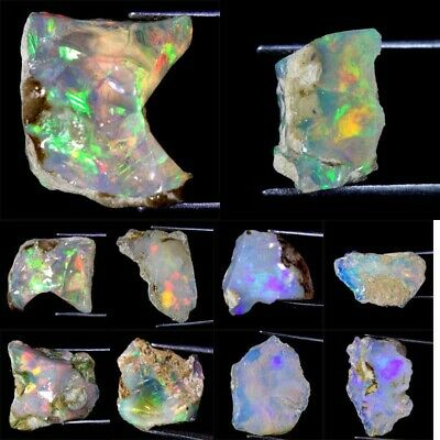 Ethiopian Opal Rainbow Flashy Welo Rough 100% Natural Untreated Loose Gemstones
