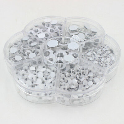 700pcs Different Sizes Plastic Moving Googly Eyes For Crafts, Dolls ,Toys