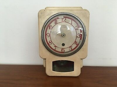 Vintage Smiths Enfield Small Wall Clock Art Deco Battery Converted