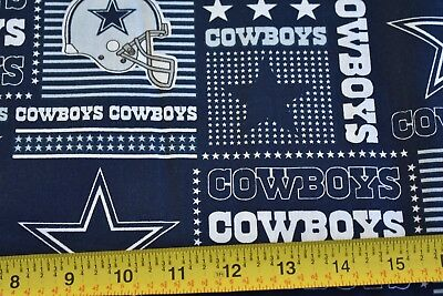 NEW NFL DALLAS COWBOYS COTTON FABRIC MATERIAL Fabric Sold By The 1//2 Yard!