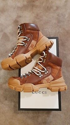 6eb79e31061 NEW €890 GUCCI Flashtrek GG high-top sneaker boots shoes 36 Eur ...