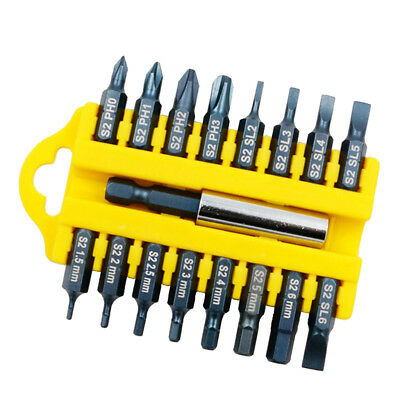 17pcs safety tamper-proof hexagonal star magnetic holder set Screwdriver Bit