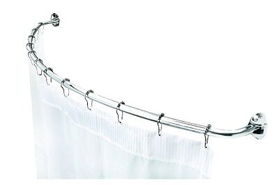 Croydex Premium Telescopic Curved Rod Shower Curtain Rail , 1080 - 1850mm