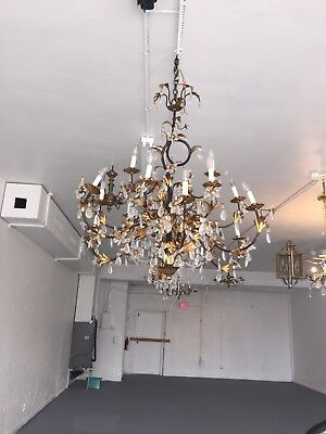 Antique Italian Gilded Chandelier
