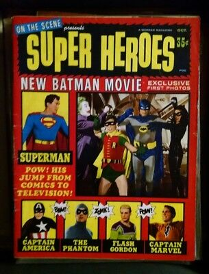 Vintage 1966 Movie Batman And Robin On Cover Of October Super Heroes Magazine