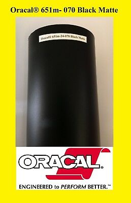 "1 Roll 12"" X 50 Feet Black Matte Oracal 651  Vinyl Adhesive  Sign 070"