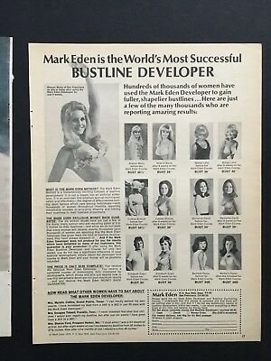 Sharon Wells 1972 Original Mark Eden Bust Developer Full Page ad  clipping 8X11""