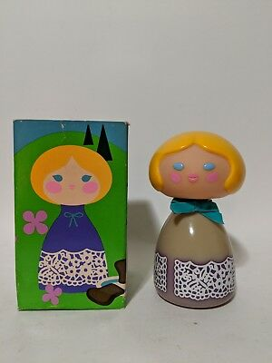 VINTAGE SMALL WORLD AVON DECANTER Cologne Mist blond hair girl 1970s EUC