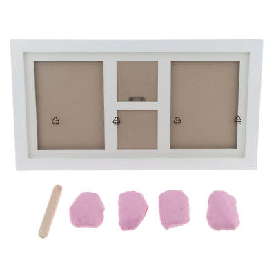 Baby Handprint Footprint Photo Frame Kit with Clean-Touch Ink Pad - Pink