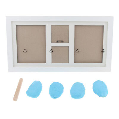 Photo Frame Kit Baby Hand Footprint Touch Ink Pad Photography Light Blue