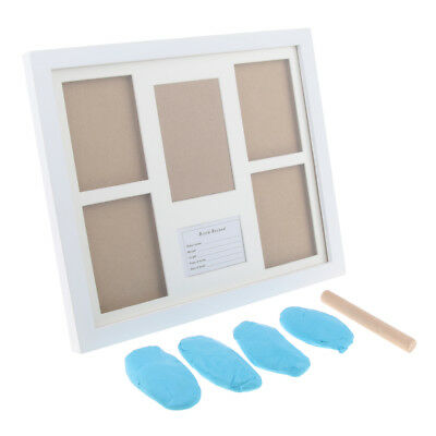Baby Keepsake Footprint Hand Print Picture Photo Frame Ink Pad Light Blue