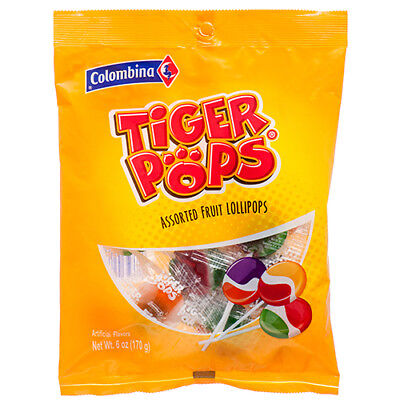 New 369892  Colombina Classic Tigerpops 6Z (12-Pack) Candy Bag Wholesale