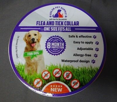 Kolok Pet Supply Flea & Tick Collar for DOGS, 8 Month Protection, 2 Count(CL812)