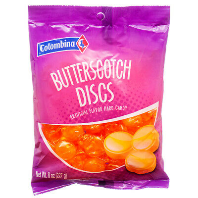 New 369888  Colombina Butterscotch Discs 8 Oz (12-Pack) Candy Bag Wholesale