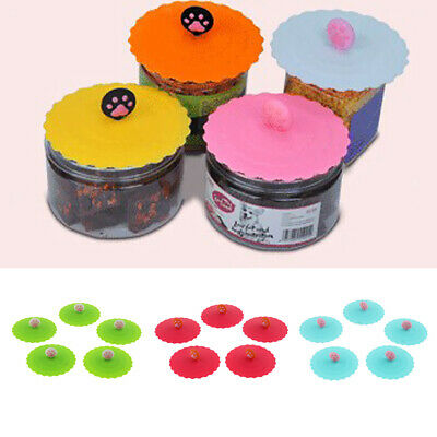 Pet Cat Silicone Super Stopper Lids Food Lids Stretch Kitchen Bowl Cup Cover