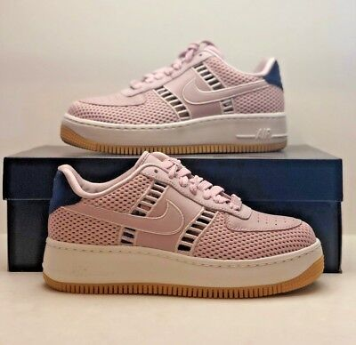 cad8890ec71d Nike Air Force 1 AF1 Upstep SI Wide Particle Rose Summit White 917591 600