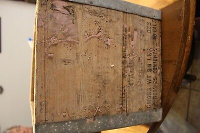 OLD John Walker & Sons LTD Wooden Box with Metal Edges