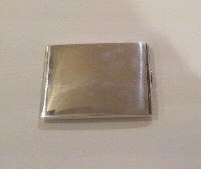 A. A. Webster & Co. Sterling Silver Card Case, Art Deco, Monogram