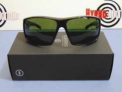 ab155df5d9 Electric Backbone Gloss Black Sunglasses M Grey Lens EE12701620 NEW NIB  Italy