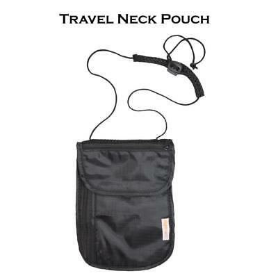 Travel Neck Pouch Money Bag Passport Holder Security under Clothes Secret Wallet