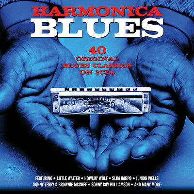 Harmonica Blues VARIOUS ARTISTS Best Of 40 Classic Songs MUSIC New Sealed 2 CD