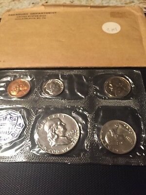 1957 US Mint 5 Coin Proof Set In Original Government Cello Pack BIN $29.95