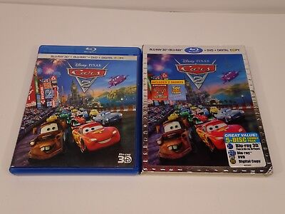 Disney Pixar - Cars 2 (Blu-ray/DVD, 2011, 5-Disc Set, Blu-ray 3D) Gently Used