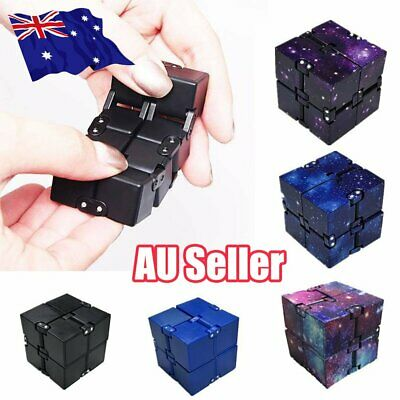 Infinity Cube Stress Relief Fidget Anti Anxiety EDC ADD ADHD Magic Puzzle Toy ON