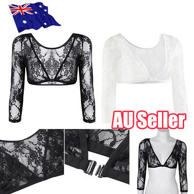 NEW Women Seamless Shoulder Arm Shaper Slimming Wrap Posture Lace Short Tops ON