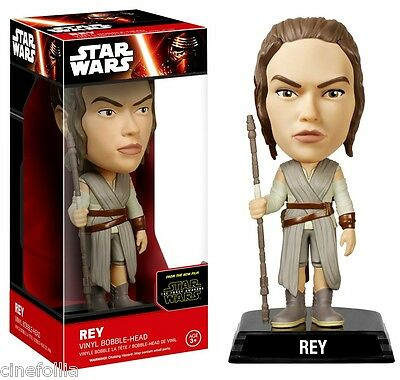 Bobble-head Star Wars VII - The Force Awake Rey wacky wobbler 15 cm Funko