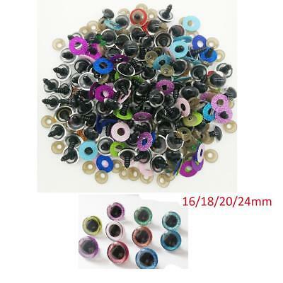 10pc Plastic Glitter Dolls Eyes Safety Eyes for Stuffed Toys Scrapbooking Puppet