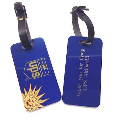 UPS United Parcel Service, 2 Luggage Tags B727-100 Passenger Operations