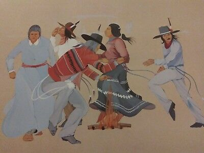"""NATIVE AMERICAN ART Lee Roy Joshua RITUAL """"82"""" Numbered and Signed"""