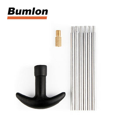 Gun Cleaning Rods Set Alumium Thread 8-32 For Hunting Airsoft Accessory