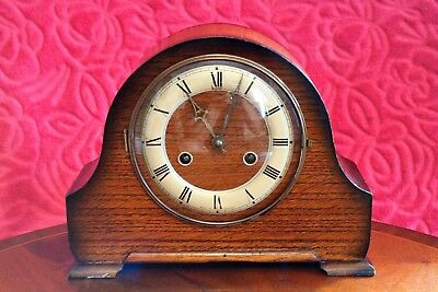 Vintage English 'Perivale' 8-Day Striking Mantel Clock