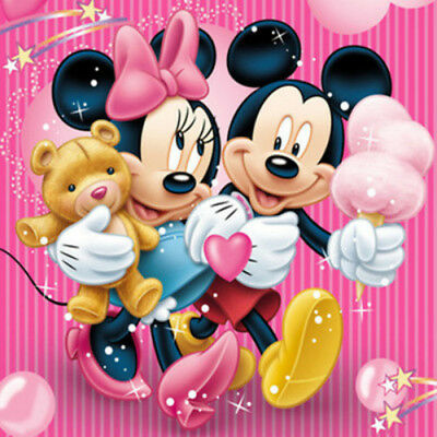 AU Sweet Mickey&Minnie Full Drill 5D Diamond Painting Embroidery Cross Stitch HP