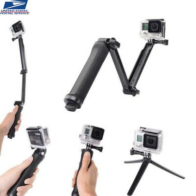 3-Way Handle Grip Arm Selfie Stick Tripod Mount Monopod For GoPro Hero 2 3 4 5 6