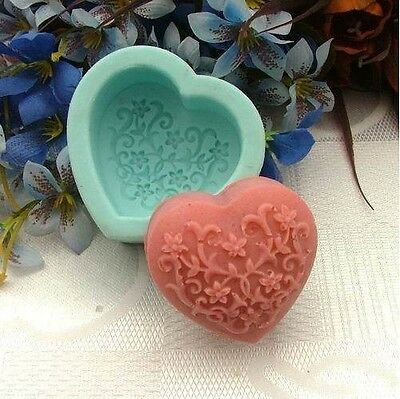 Flower Heart Soap Mold Moulds Flexible Silicone Mold For Resin Candy Candle Fimo
