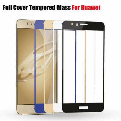 Full Cover Curved Tempered Glass Protector Film For HUAWEI P8 P9 P10 Lite Plus