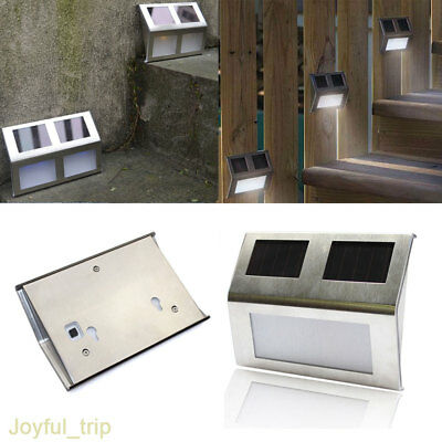 10*Super Bright Solar Powered Door Fence Wall Lights Led Outdoor Garden Lighting